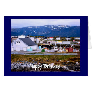Happy Birthday, beside the fjord Card