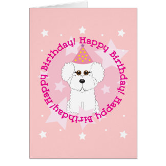 Happy Birthday Bichon Card