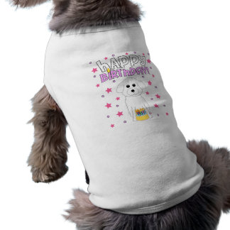 Happy Birthday Bichon Frise Sleeveless Dog Shirt