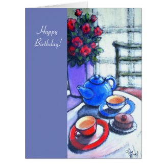 Happy Birthday Large Greeting Card