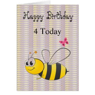 Happy Birthday Black Lilac Bee Card