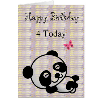 Happy Birthday Black Lilac Panda Card