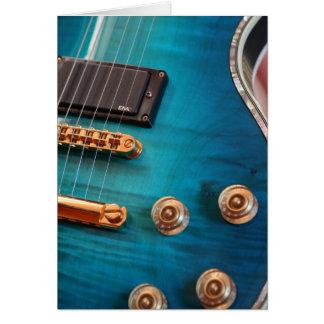 Happy Birthday - Blue Guitar Greeting Card