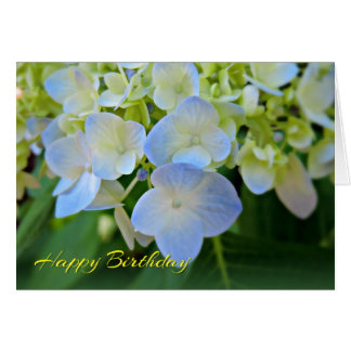 Happy Birthday Blue Hydrangea Card