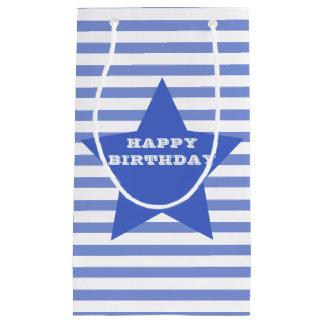 Happy Birthday | Blue Star & Stripes Gift Bag