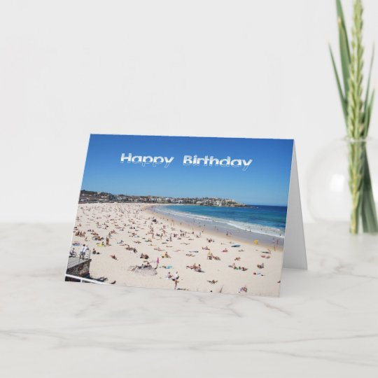 Happy Birthday, Bondi Beach, Sydney, Australia Card