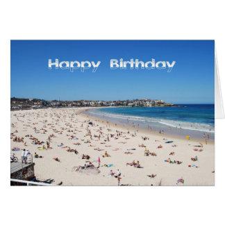 Happy Birthday, Bondi Beach, Sydney, Australia Card