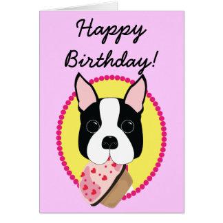 Happy Birthday! Boston Terrier Birthday Card