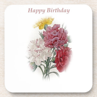 Happy Birthday Bouquet Coaster