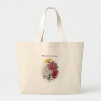 Happy Birthday Bouquet Large Tote Bag