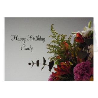 Happy Birthday Bouquet Personalized Card