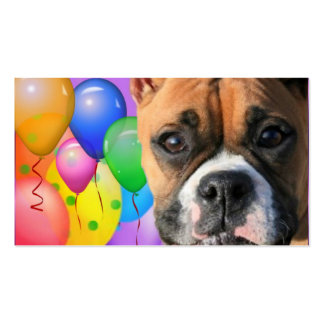Happy Birthday Boxer business cards
