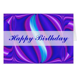 Happy Birthday bright blue Card