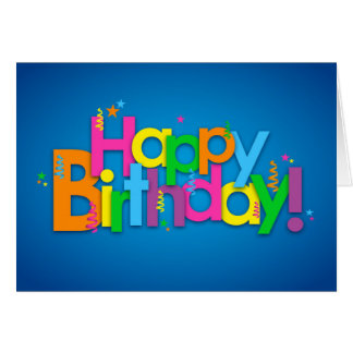 Happy Birthday - Bright Colours Card