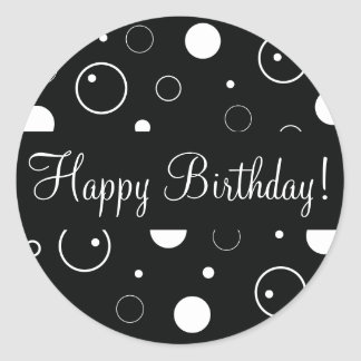 Happy Birthday Bubbles Envelope Sticker Seal