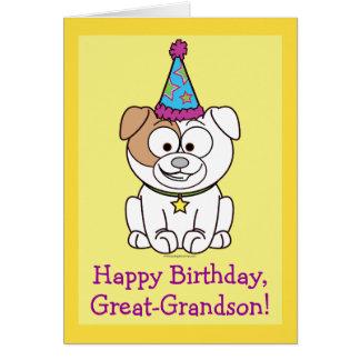 Happy Birthday Bulldog: Great-Grandson Card