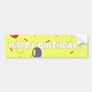 Happy Birthday Bumper Sticker