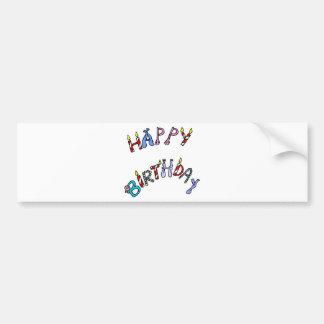 happy birthday! car bumper sticker