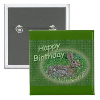 Happy Birthday Bunny Rabbit Cordinating Items Pin