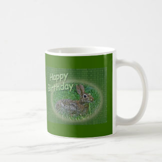 Happy Birthday Bunny Rabbit Cordinating Items Coffee Mugs