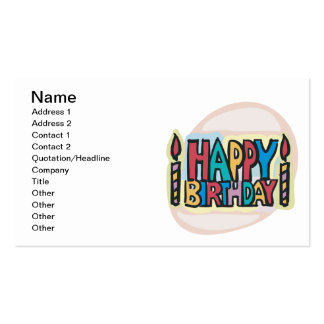 Happy Birthday Pack Of Standard Business Cards
