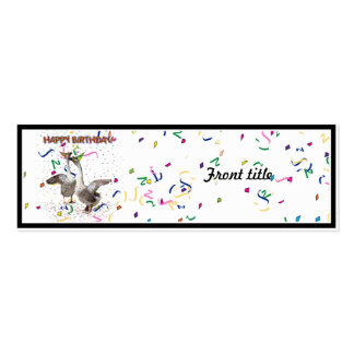 Happy Birthday! Pack Of Skinny Business Cards