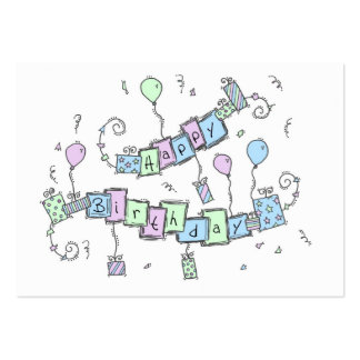 Happy Birthday Business Card Template