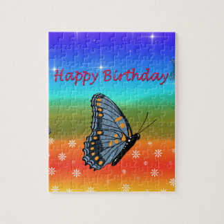 Happy Birthday Butterfly Puzzle