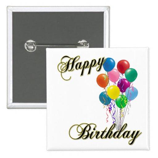 Happy Birthday Button - Customize