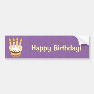 Happy Birthday Cake Bumper Sticker