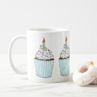 Happy Birthday Cake Cupcake Candle Sprinkles Party Coffee Mug