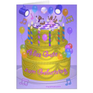 """Happy Birthday"" cake (German) Greeting Card"