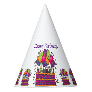 Happy Birthday Cake Party Hats #1