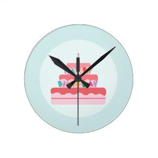 Happy Birthday Cake Wallclock