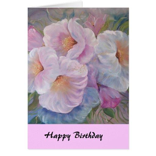 HAPPY  BIRTHDAY CAMELIASCard Greeting Card