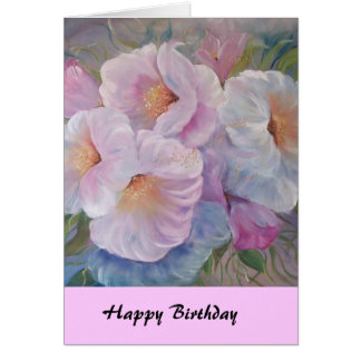 HAPPY  BIRTHDAY CAMELIASCard Greeting Card