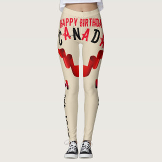 Happy Birthday Canada est.1867 - Leggings