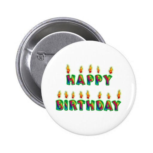 Happy Birthday Candles Button