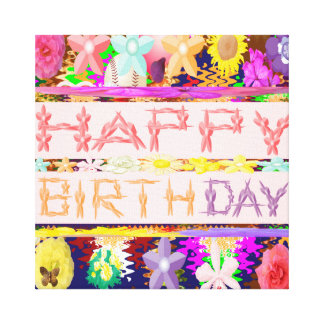 Happy Birthday Gallery Wrap Canvas