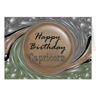 Happy Birthday Capricorn Card