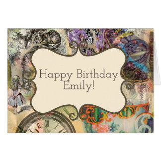 Happy Birthday Card Custom Template Alice Cheshire