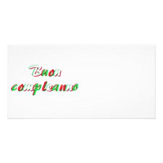 Happy Birthday card Customized Photo Card