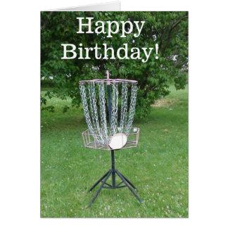 Happy Birthday Card for a Disc Golfer