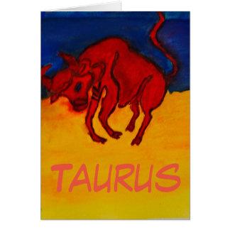 Happy Birthday Card for Taurus