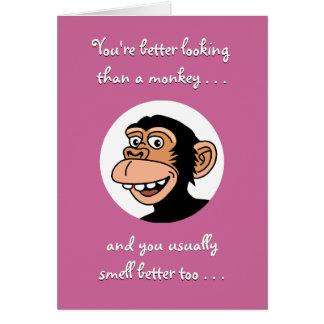 Happy Birthday Card: Funny Monkey Card