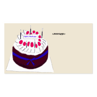 HAPPY BIRTHDAY CARD PACK OF STANDARD BUSINESS CARDS