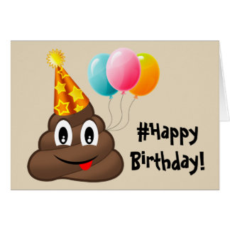 #Happy Birthday Card: Party Poop Emoji Card