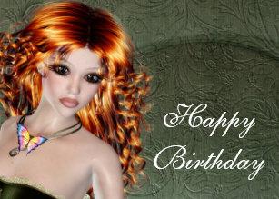 Redhead Birthday Cards