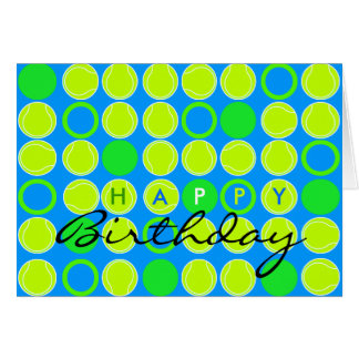 Happy Birthday Card Tennis Ball