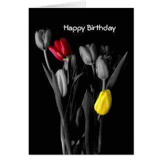 Happy Birthday Card-Tulips